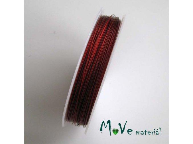 Nylonové lanko 0,45mm, 1m, červené