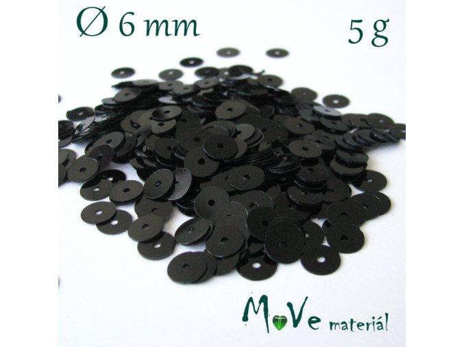 Flitry hladké 6mm, 5g, černé