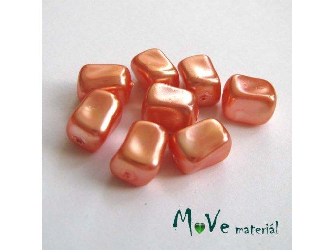 České voskové perle tvarované 10x7x7mm, 8ks, oranžové