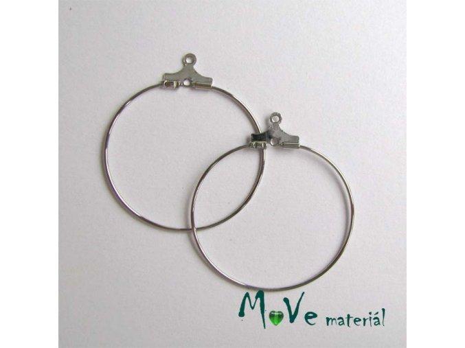 Náušnicové kruhy KREOLA 30mm, 1pár, platina
