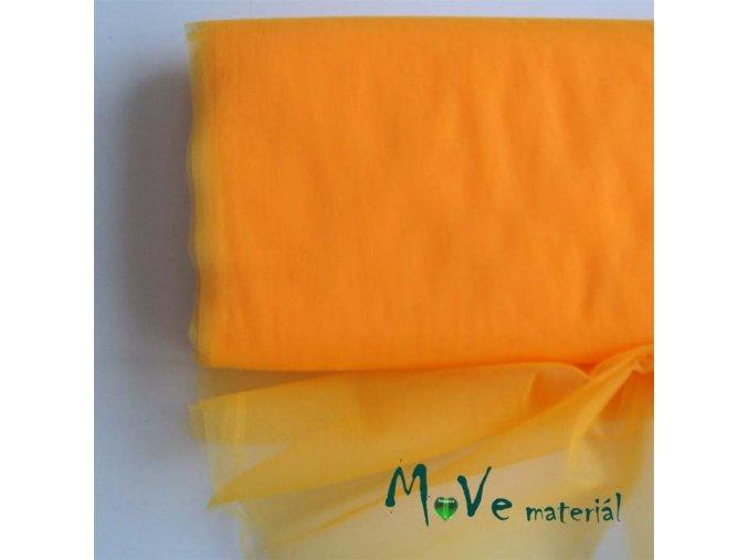 svatební tyl jemný světle oranžový 50 cm/ š 280 cm