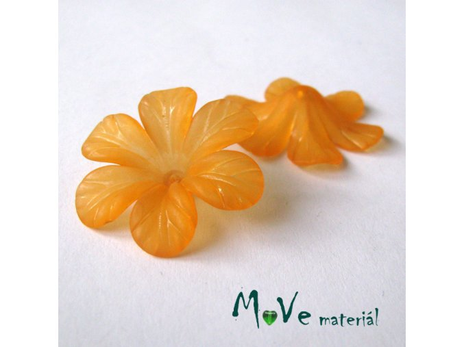 Akrylový květ 30mm, 2ks, oranžový