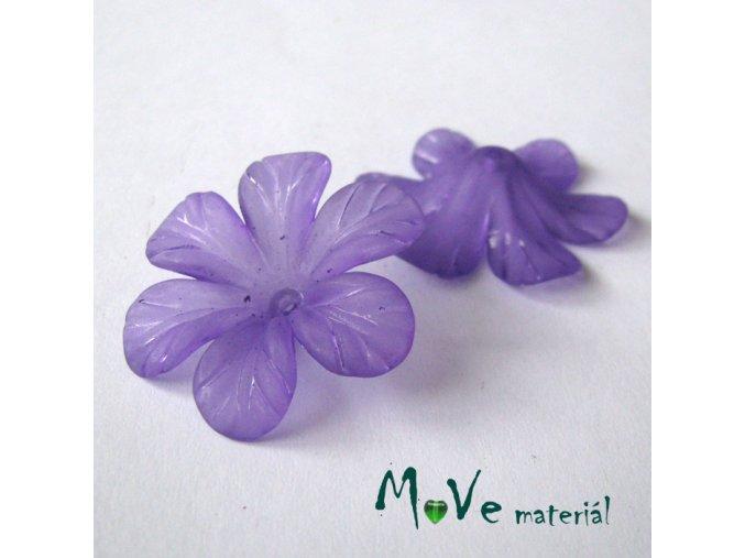 Akrylový květ 30mm, 2ks, fialový