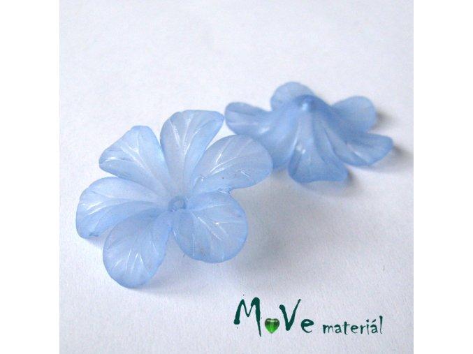 Akrylový květ 30mm, 2ks, sv. modrý