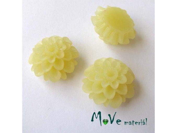 Kabošon květ transparentní A5 - resin - 2ks, vanilka