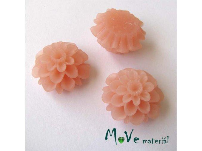 Kabošon květ transparentní A5 - resin - 2ks, starorůžový