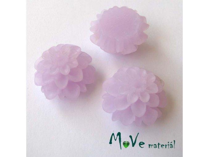 Kabošon květ transparentní A5 - resin - 2ks, sv. fialový