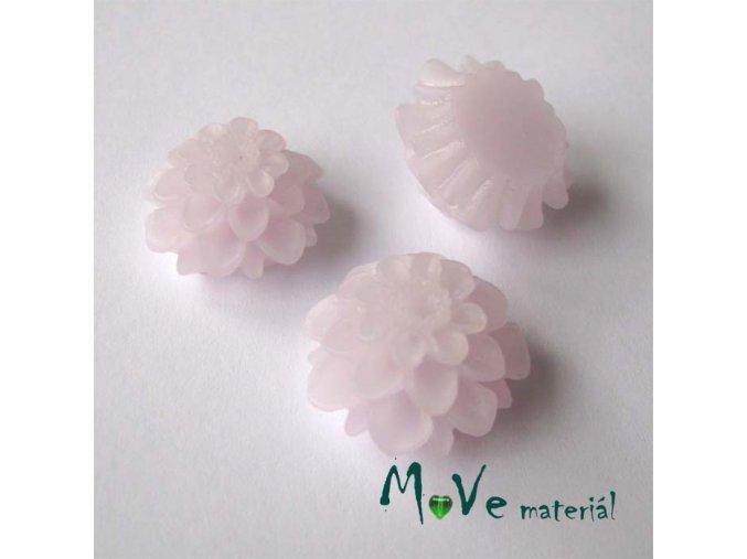 Kabošon květ transparentní A5 - resin - 2ks, lila
