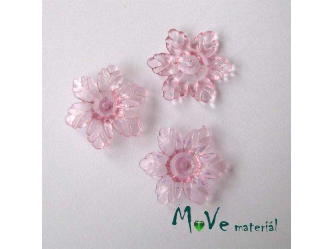 Akrylový květ 22mm, 4ks, růžový