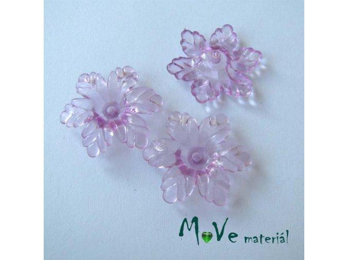 Akrylový květ 22mm, 4ks, fialový