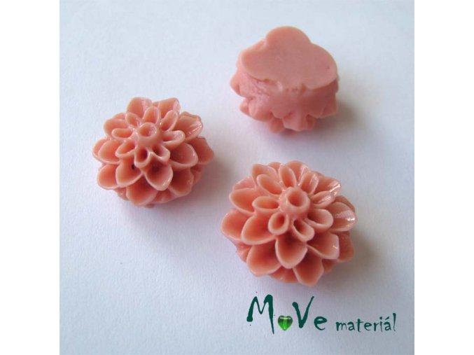 Kabošon květ lesklý A7 - resin - 2ks, starorůžový