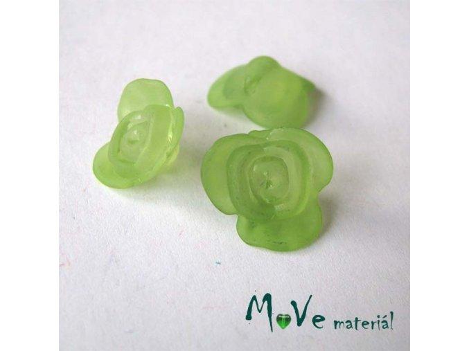 Kvítek transparentní 15x7mm, 4ks, zelený
