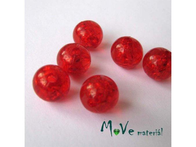 Korálek Krakl plast červený 10mm 6ks