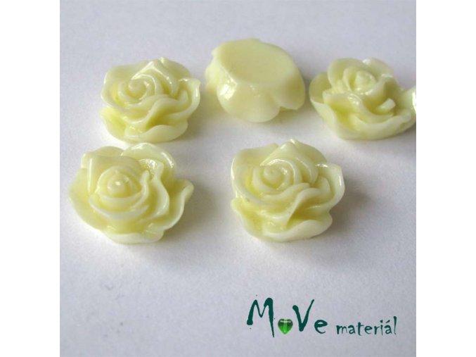 Kabošon květ lesklý A3 - resin - 2ks, vanilkový