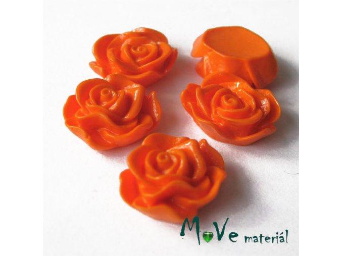 Kabošon květ lesklý A3 - resin - 2ks, pomerančový