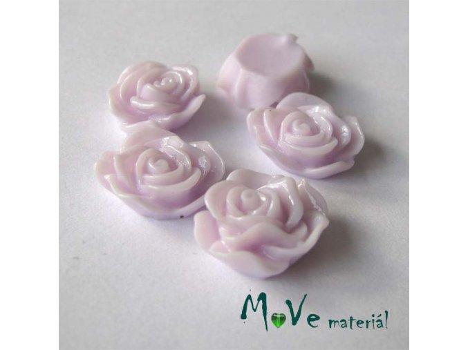 Kabošon květ lesklý A3 - resin - 2ks, světle fialový