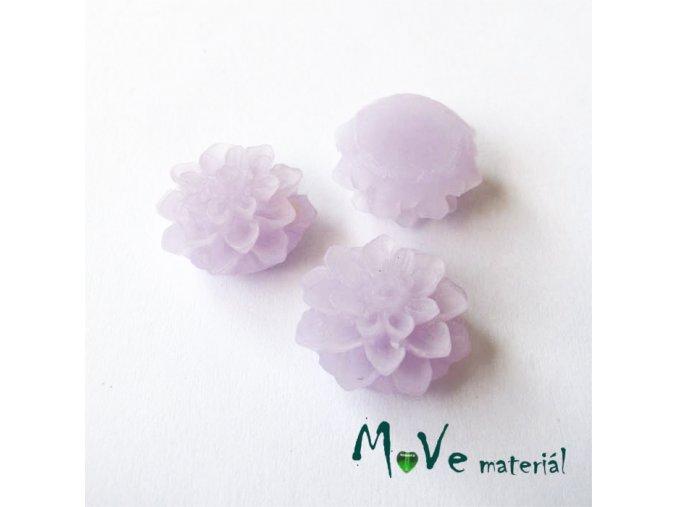 Kabošon květ transparentní A6 - resin - 2ks, světle fialový