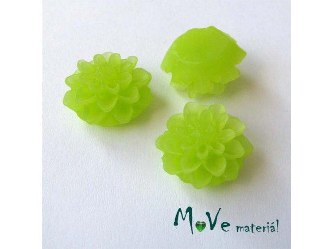 Kabošon květ transparentní A6 - resin - 2ks, světle zelený