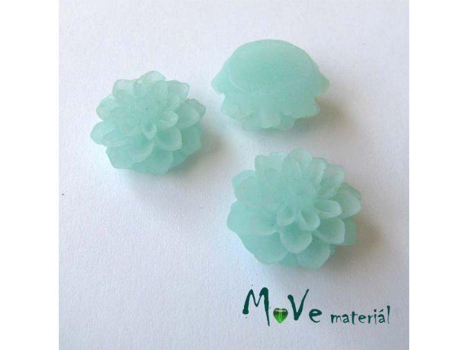 Kabošon květ transparentní A6 - resin - 2ks, mátový