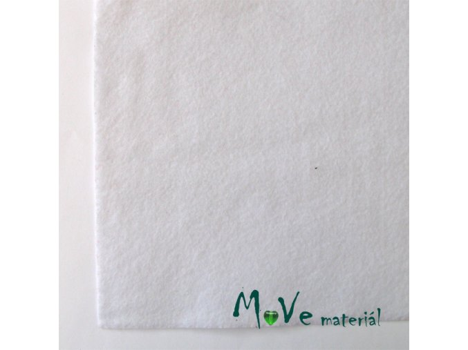 Plsť (filc) 20x30cm, 1ks, sněhově bílá