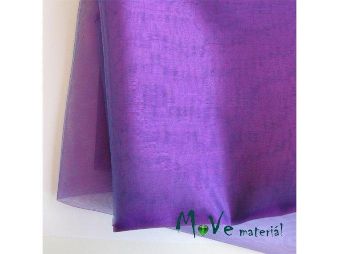 Organza středně fialová140cm/ 20 cm