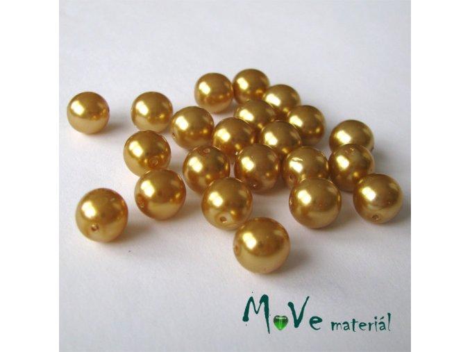 České voskové perle zlatobéžové 9mm, 22ks cca 20g