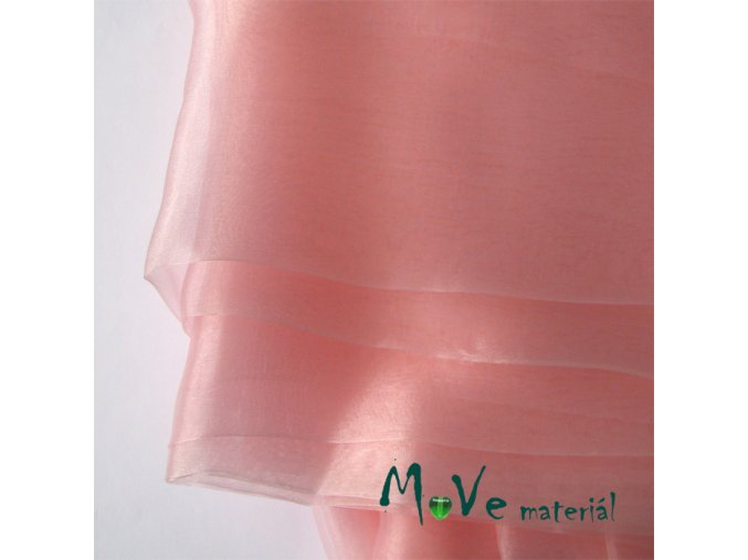 Organza růžová140cm/ 20 cm