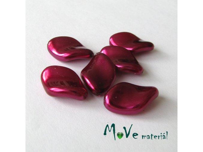 České voskové perle placka 6 ks, růžovofialová