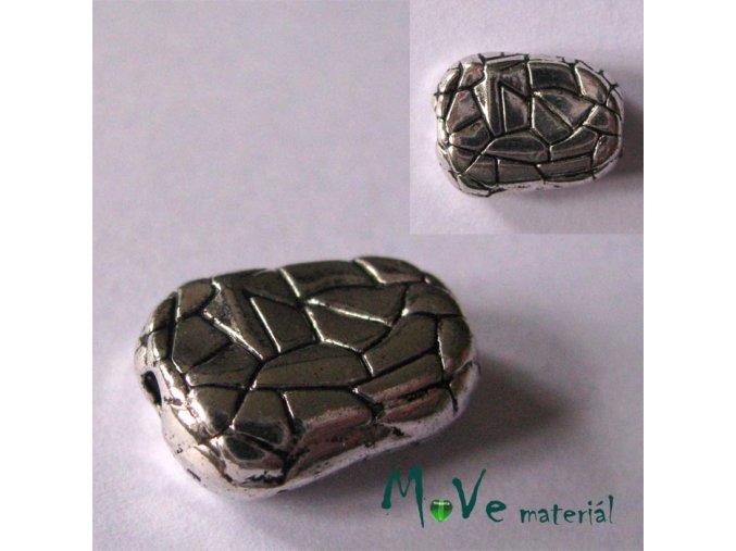 Korálek kovový 10x15mm nuget, 1ks