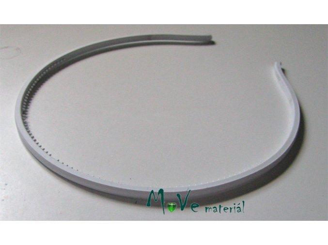 Čelenka jednoduchá plastová bílá