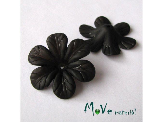 Akrylový květ 30mm, 2ks, černý
