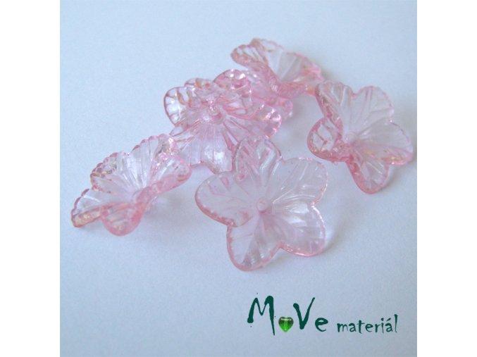 Akrylový květ 18mm, 6ks, růžový