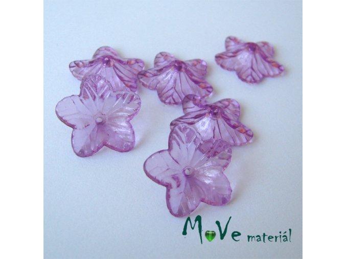 Akrylový květ 18mm, 6ks, fialový