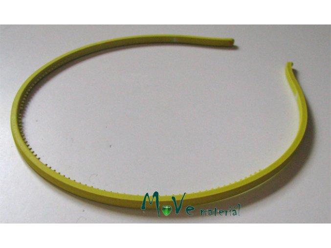 Čelenka jednoduchá plastová žlutá