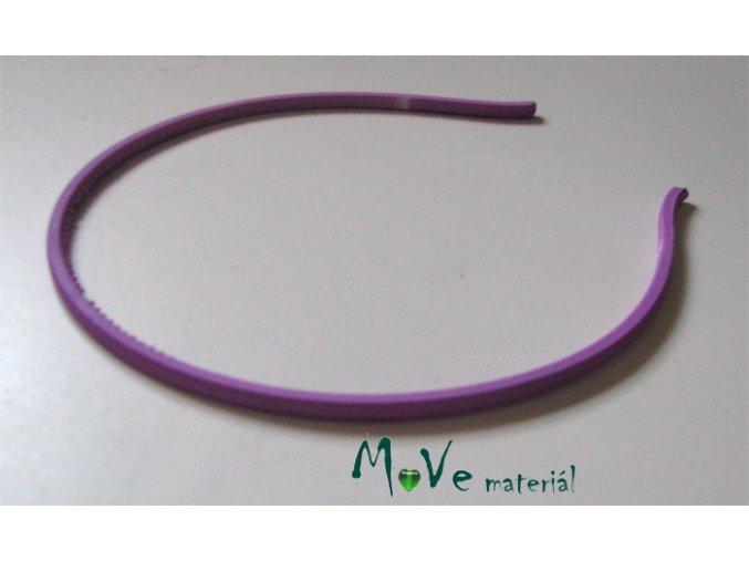 Čelenka jednoduchá plastová fialová