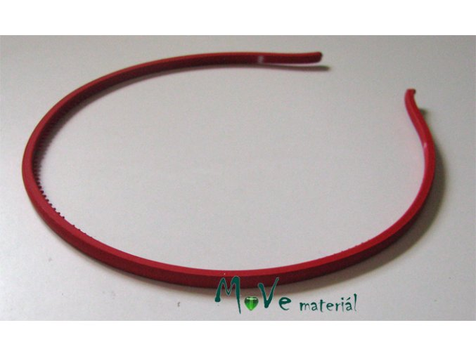 Čelenka jednoduchá plastová červená