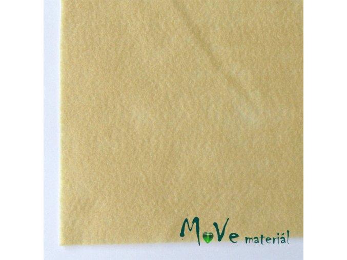 Plsť (filc) 20x30cm, 1ks, béžová