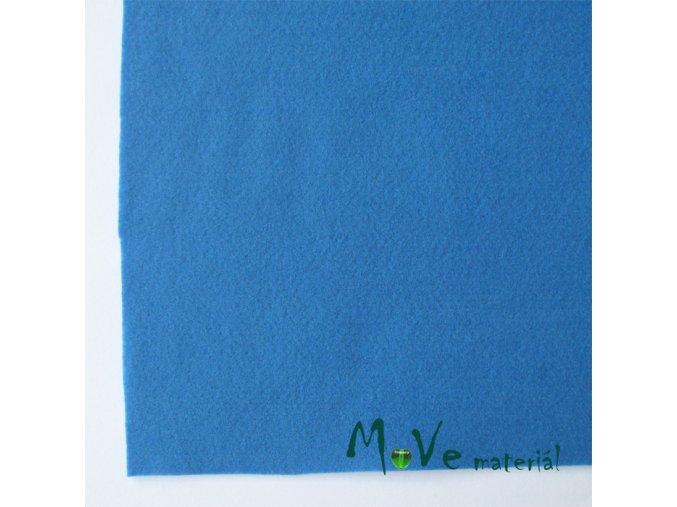 Plsť (filc) 20x30cm, 1ks, středně modrá