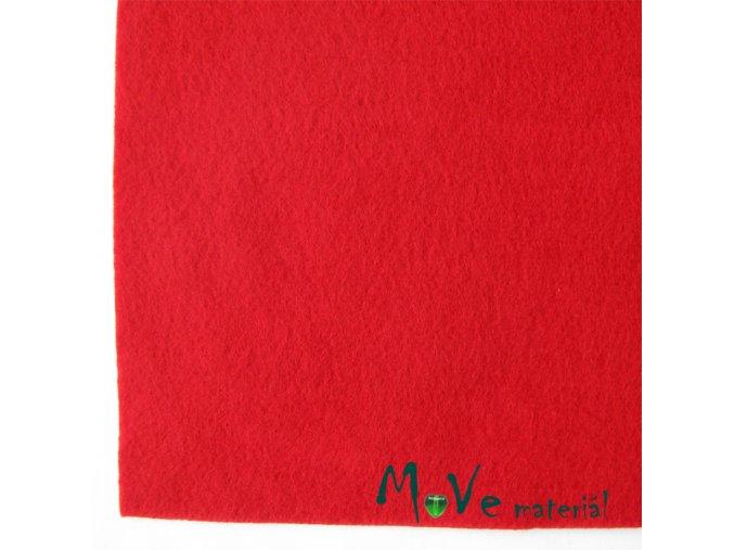 Plsť (filc) 20x30cm, 1ks, červená