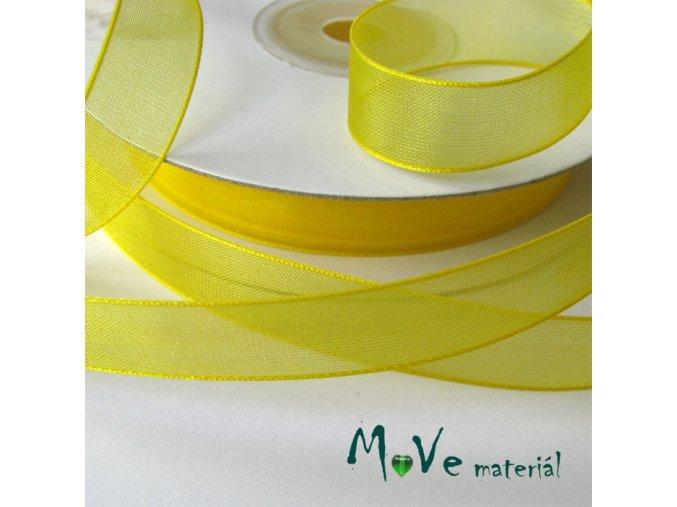 Šifónová stuha 12mm, 1m žlutá
