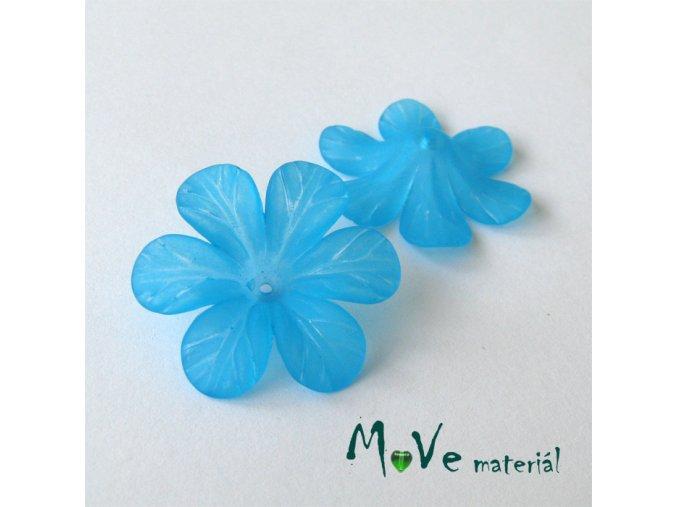 Akrylový květ 30mm, 2ks, tyrkysový