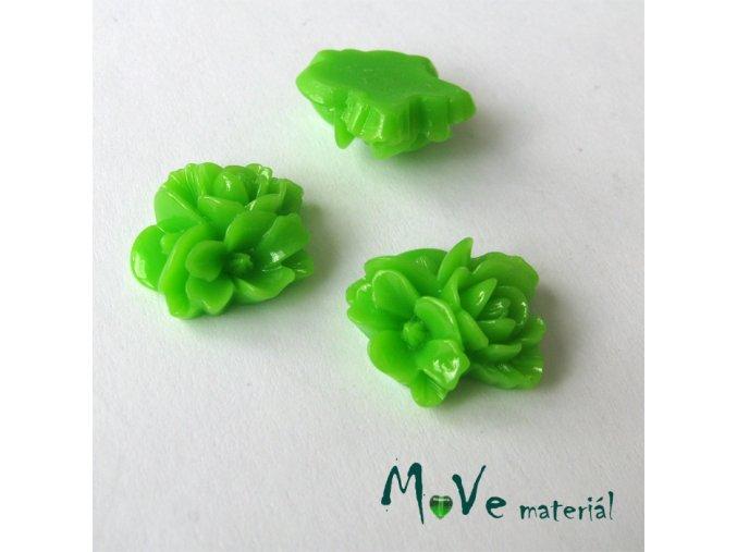 Kabošon květy lesklý A8 - resin - 2ks, zelený