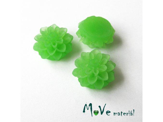 Kabošon květ transparentní A6 - resin - 2ks, zelený