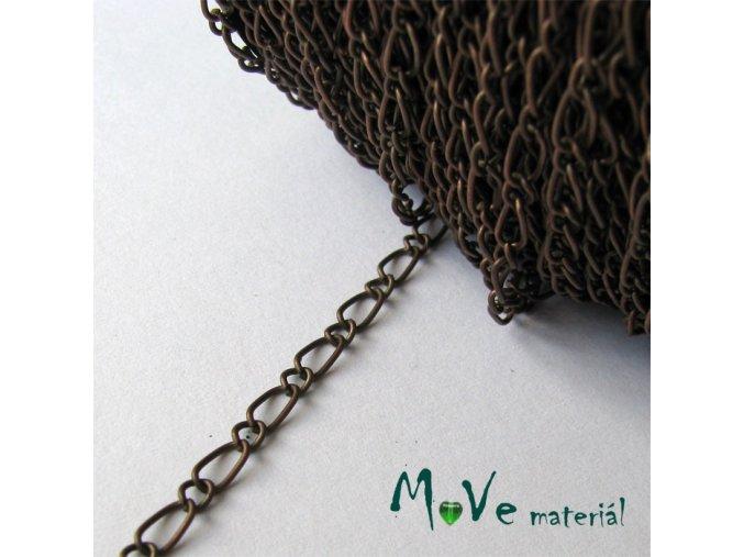 Řetízek kovový - délka 1m, staroměď