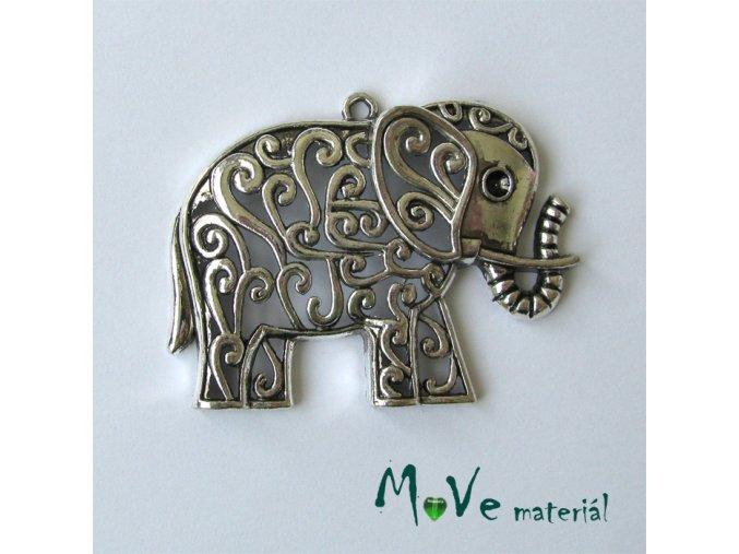 Přívěsek slon filigrán 61x47mm, 1ks