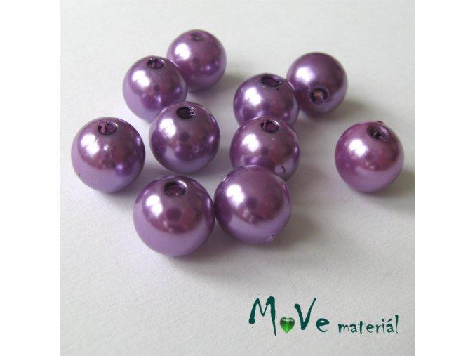 Akrylové voskové perle, 10ks, růžovofialové