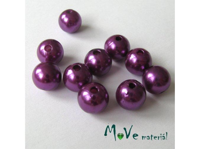 Akrylové voskové perle, 10ks, fialové