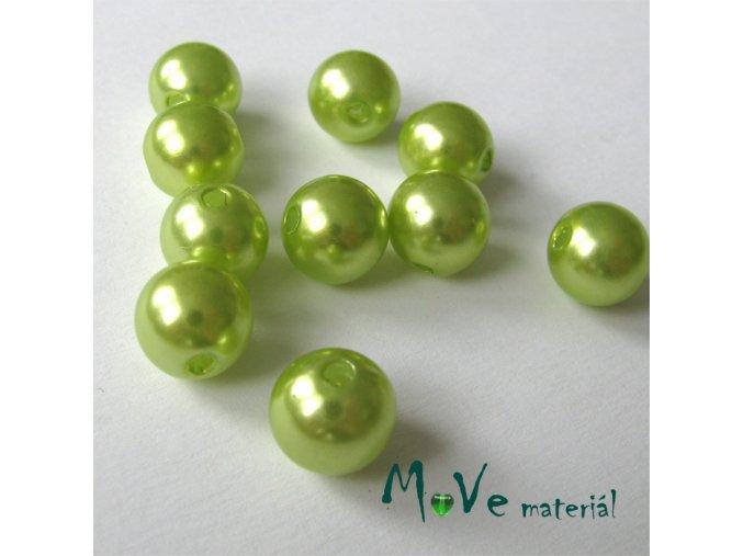 Akrylové voskové perle, 10ks, sv. zelen