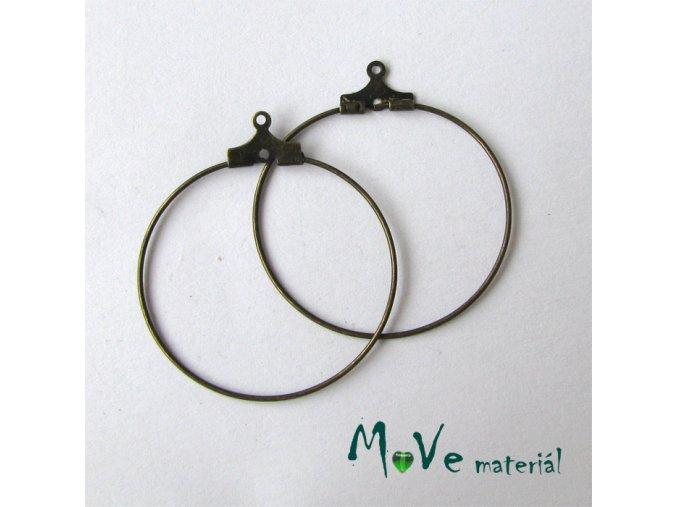 Náušnicové kruhy KREOLA 30mm, 1pár, staromosaz