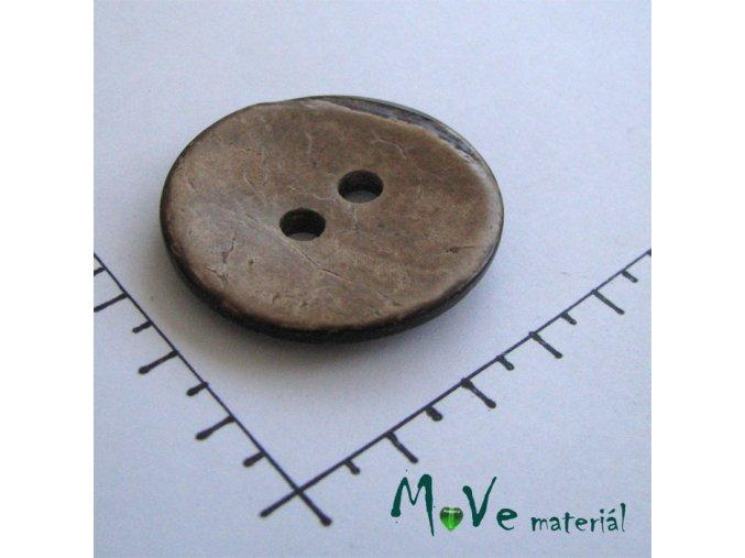 Knoflík kokos 37mm oboustranný